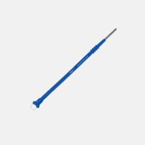Loop elektrode, blå, firkantet, 5x5mm
